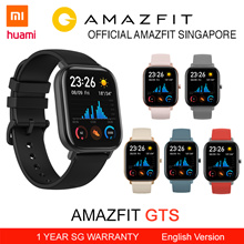 [Official Amazfit Singapore] XIAOMI HUAMI AMAZFIT GTS Waterproof Smart Watch | English Version