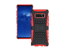 For Samsung Note 8 Shockproof TPU Back Cover Rugged Armor Hybrid Kickstand Protective Case