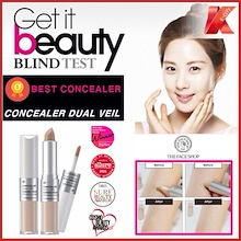 ★GET IT BEAUTY #NO.1 CONCEALER★THE FACE SHOP CONCEALER DUAL VEIL★KOREA #NO.1 CONCEALER★PERFECT COVER