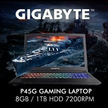 GIGABYTE P45G (I7-7700HQ / 8GB / 128GB + 1TB HDD 7200rpm / 2GB NVIDIA GTX1050 DDR5 / 15.6 Inch FHD