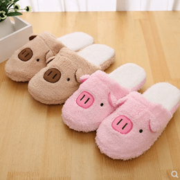 0bbdc861783 Wholesale cotton slippers female winter couple indoor warm non-slip  thick-soled home month