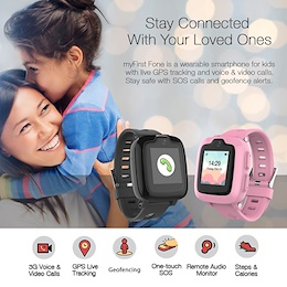 Oaxis MyFirst Fone S2 - Hybrid Kids Smart Watch Phone (GPS Tracking 3G Video Call)