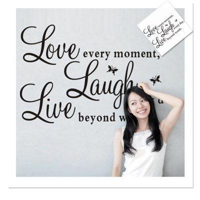 Qoo10 Live Love Laugh English Quotes Pattern Home Appliances