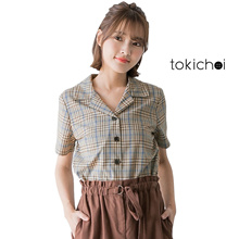 TOKICHOI - Plaid Buttoned Shirt-171766