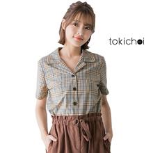 TOKICHOI - Plaid Buttoned Shirt-171766