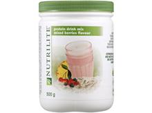 AMWAY NUTRILITE Protein Drink Mix (Mixed Berries Flavour) 500g