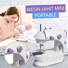 MESIN JAHIT MINI PORTABLE 2 Benang 1 Pedal + ADAPTOR / Portable Sewing Machine Model FHSM-202