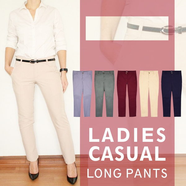 New! Collection Women Casual Long Pants_Good Material_Celana Panjang Wanita Deals for only Rp79.000 instead of Rp79.000