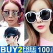 Buy 2 Free Shipping Women and Men Fashion Sunglasses UV400 Girls High Quality sunglasses