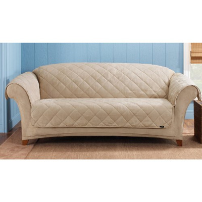 Sure Fit Sherpa Soft Suede Sofa Throw