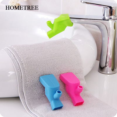 Colorful Flexible Silicone Faucet Extension Child Adult Groove Extender  Baby Washing Extender