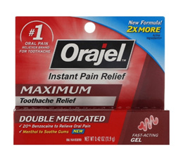 Orajel Instant Pain Relief Maximum Toothache Relief Fast-Acting Gel 0.42 oz (11.9 g)
