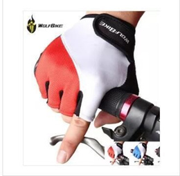 SG WOLFBIKE Cycling Gloves Mens Womens Summer Sports Wear Bike Bicycle Riding Short Half Finger Non