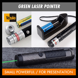 Green laser pointer for outdoor or indoor small powerful for presentation/property agent /school