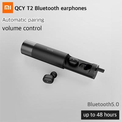 QCYQCY T2 Bluetooth earphones / Bluetooth5 0 / automatic fairing / volume  control / maximum 48 hours