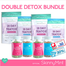 [SkinnyMint Official] Double Detox Bundle (2x28Day Teatox + 2x Fat Burning Gummies) + FREEBIES