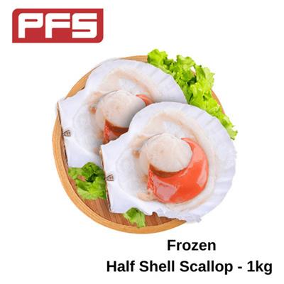 [Frozen Half Shell Scallop]-1kg/pkt