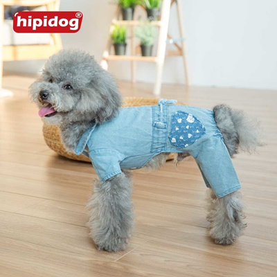 225367a088 dog puppy denim overalls jumpsuit romper small dog jeans pants coat jacket  clothing chihuahua