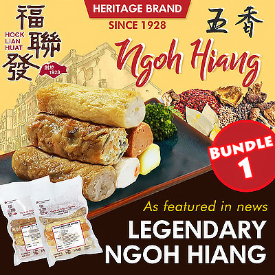 [FREE DELIVERY] SG Heritage Brand: READY TO EAT NGOH HIANG SERIES BUNDLE 1 Deals for only S$18.6 instead of S$0