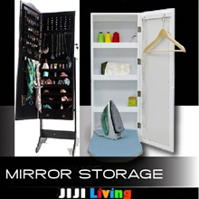Standing Mirror with Storage! ★Privita Mirror ★Organizer ★Makeup ★Rack ★Cabinet ★Bookshelf