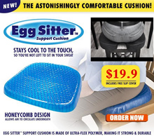★Ready Stock★Egg Sitter Seat Cushion with Non-Slip Cover / Breathable Honeycomb Design Absorbs Pres