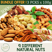 MIX AND MATCH  3 X 100G Nuts! 9 Different Choices! [The Nuts Warehouse]