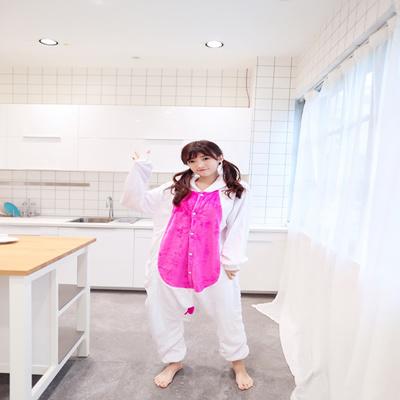 4de78e70d07b New Adult Pajamas Kigurumi Cosplay Animal Costume Winter Sleepwear Unicorn