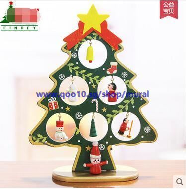 christmas decorations small christmas tree decoration wood mini christmas tree desktop decoration ch