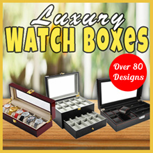 ★[Local Seller/80 Models of Luxury Watch Boxes]★ 2/3/4/5/6/8/10/12/20/24 Slots