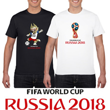 [NEW ARRIVALS] FIFA World Cup Russia 2018 100% Cotton T Shirt Scoccer Football Short Sleeve