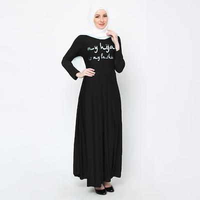 Kedai_Baju Pakaian Muslim / Baju Muslim Murah Syari Hijab / Gamis Princess Maroon. Source.
