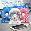 Kipas Angin Mini Powerbank / Kipas Angin Portable / Power Bank Multifungsi