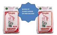 2x10KG SONGHE RICE $66. FREE DELIVERY