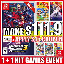 [1+1 Event] Nintendo Switch HIT 16 Games Collection / Marvel Ultimate Alliance 3 Updated !!!