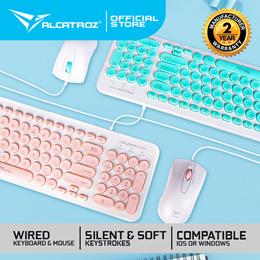 ⌨️JellyBean 2.4GHz Keyboard MouseCombo   Retro Design Slim Elegant   1200CPI Mouse [SG Stock] [Next Day Shipping]⌨️