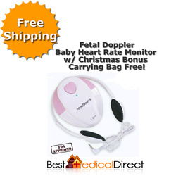 Freeshipping - Fetal Doppler Baby Heart Rate Monitor (Factory Direct - Angelsounds JPD-100S)