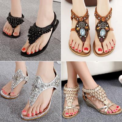 2016 New Women Sandals Ladies Flat Sandals☆Womens Shoes☆Girls Sandals☆lady  high cf5db9af93d0