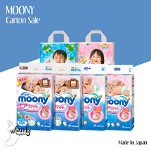 [Apply$10 Qoo10 Coupon] Moony Diapers ❤ Carton Sale / Japan / Tape NB`S`M`L / Pants L`XL