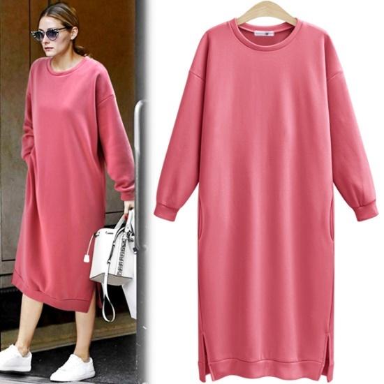 アデンOP1907ピオブロングワンピース 綿ワンピース/ 韓国ファッション