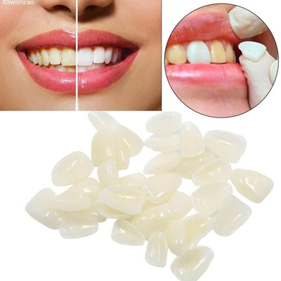50 PCS Dental Temporary Crown Teeth Veneers Oral Materials for Ceramic Teeth