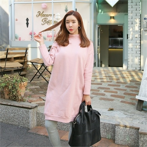 クルリクエンミカンチョウ起毛ワンピース 無地ワンピース/ワンピース/韓国ファッション