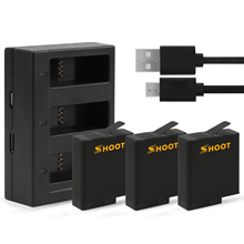 Shoot Charger and Battery Kit for Gopro Hero 6/5