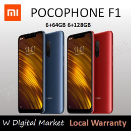 Xiaomi POCOPHONE F1 6+128GB/ Local warranty /Armour Edition/ Qoo10 Lowest Price