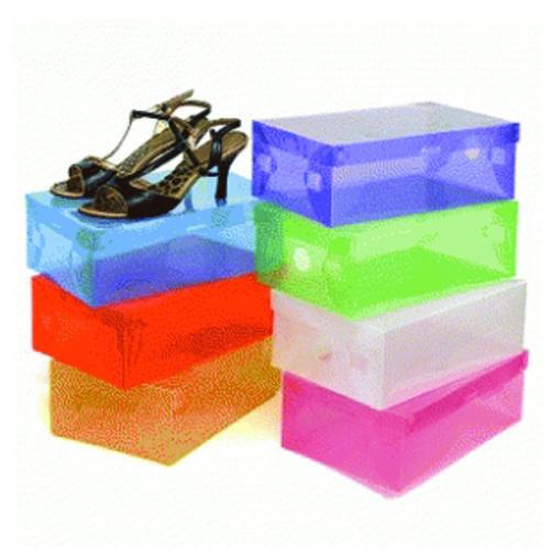 Box atau kotak sepatu plastik transparan warna warni Deals for only Rp15.000 instead of Rp15.000