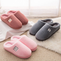Zhi Room (Zhijian) cotton Slippers men and women lovers bag with thick bottom Non-Slip autumn and wi