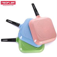 [Neoflam] Antibacterial I Love Diamond Square Frying Pan 28cm / Made in Korea