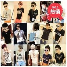 Korean Slim Mens S T-shirt Code Mens personality tide brand short t summer short-sleeve T-shirts
