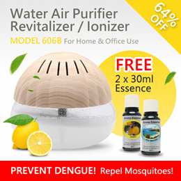 Clean Indoor Air Repel Mosquitoes!Air Revitalizer/Water Air Purifier[Deodorizes And Removes Odour]