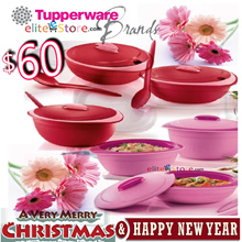 TUPPERWARE Insulated Server Spoon [GERBERA RED / PINK] Kitchen Storage MERRY XMAS NEW YEAR
