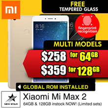 Xiaomi Mi Max 2/ 6.44 inch display/ 4GB+64GB/ 4GB+128GB/2.0GHz Snapdragon 625/ 5MP+12MP